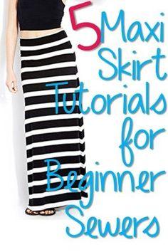 5 Easy Maxi Skirt Tutorials for Beginners