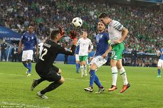 Robbie Brady headed past Salvatore Sirigu to secure the Republic of Ireland a dramatic victory over Italy and safe progress into the last 16....ltaly 0 - 1 Rep of lreland