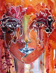 Portrait - Original von abstrakte bilder und mehr von maria-mercedes auf DaWanda.com