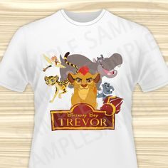 Lion Guard Iron On Transfer. Lion Guard by KidsPartyBoutique