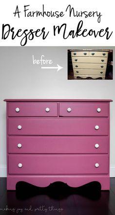 dresser makeover DIY