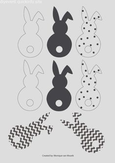 Easter bunny garland DIY with cotton tails Easter Templates, Easter Printables, Happy Easter, Easter Bunny, Easter Eggs, Spring Crafts, Holiday Crafts, Easter Garland, Diy Ostern