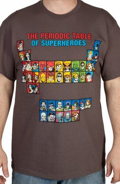 Periodic Table of Superheroes Shirt