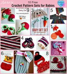10 Free Crochet Pattern Sets for Babies - Crochet For You