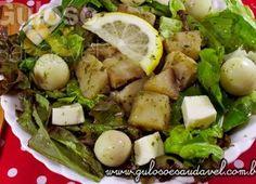 Salada de Batata Doce com Pesto de Manjericão