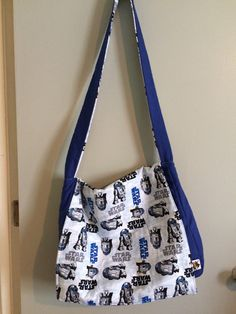 Star Wars R2-D2 Reversible Messenger Bag by TheGeekForge on Etsy