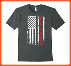 Mens Father's Day Gift  American Red Gdaddy  flag t-shirt XL Dark Heather - Cities countries flags shirts (*Partner-Link)