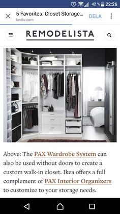 Pax hörngarderob Till garderoben nere