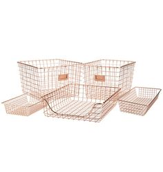 Copper Wire Scoop Tray and Bins | Rejuvenation