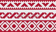 Cross Stitch Borders, Cross Stitch Flowers, Cross Stitch Designs, Cross Stitch Patterns, Bead Loom Patterns, Crochet Stitches Patterns, Thread Crochet, Crochet Parrot, Blackwork Patterns
