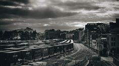 Gastown Tracks - A break in the clouds this morning created a dramatic scene…