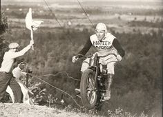 Vintage Harley hillclimbing