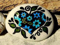 Heart of a Gypsy /  Painted Stone / Sandi Pike Foundas / Cape Cod via Etsy
