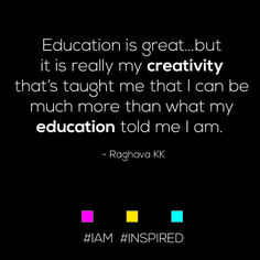 #IAM #INSPIRED...creativity is KEY.