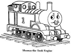 Thomas-The-Train Coloring Page - Print Thomas-The-Train pictures to color at AllKidsNetwork.com