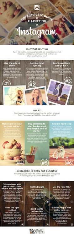 The Complete Guide to Marketing on Instagram: 12 Tips for Success #Infographic