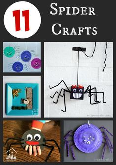 11 Spider Crafts for Kids to enjoy at Halloween.