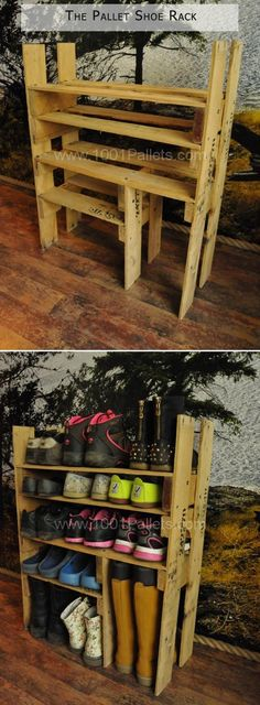 Amazing Uses For Old Pallets – 20 Pics #diyshoerackpallet