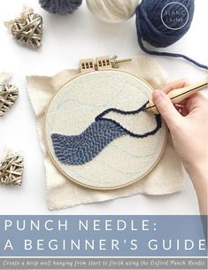 Learn to punch needle / Punch needle electronic book / Beginners guide punch needle / Oxford Punch Needle e-book / Rug hooking guide DIY