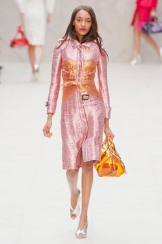 Metallics trend for women: shimmers and futuristic twists burberry prorsum metallic coat
