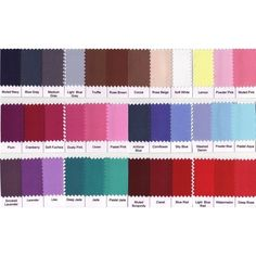 Summer Color Swatches found on Polyvore