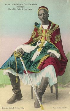 "Africa | ""A Provincial Chief"". Senegal. ca. early 1900s. 