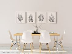 Brown Leaves set of 4 artworks, Dining room decor, Earth tone wall art Home decor Living room prints, Brown decoration Printable Plant Dinning Room Wall Decor, Dining Room Walls, Living Room Decor, Dining Area, Dining Table, Room Chairs, Bedroom Decor, Living Room Prints, Home Decor