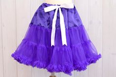 Hey, I found this really awesome Etsy listing at https://www.etsy.com/listing/152995464/one-size-purple-chiffon-pettiskirt-dress