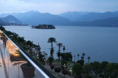 Dusk from the rooftop terrace at the #Hotel La Palma, where you'll stay while on tour in #Stresa, #Italy. Visit http://www.vbt.com/blog/italy/hotels-in-italy-that-highlight-vbts-walking-the-italian-lakes-vacation/ for more details   #LakeMaggiore #VBT