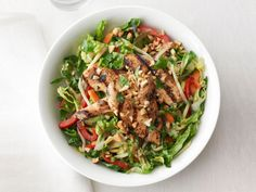 Chicken Satay Salad from #FNMag #myplate #protein #veggies