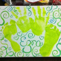Arts and crafts with my toddler's hand and feet