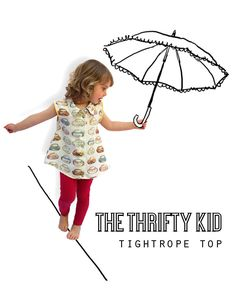 The Thrifty Kid – Tightrope Top (or How to make a Swing Top from a Shirt)
