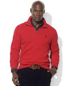 Men's Grey V-neck Sweater, Pink Polo, Navy Skinny Jeans, Black ...