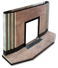 1930s Art Deco marble fireplace