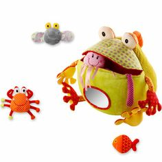 Romeo, The Well Fed Toad - I love that my baby could gnaw on this, and my preschooler could use it to tell stories!  Clever. #ClumpoLump