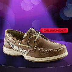 Sperry Women's Sequin Leather Boat Shoe at Shoe Carnival. Cowboy Boots Women, Cowgirl Boots, Western Boots, Riding Boots, Leather Boat Shoes, Leather Sandals, Leather Boots, Sock Shoes, Shoe Boots