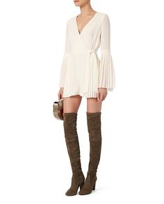 Exclusive for Intermix Kingston Pleated Romper