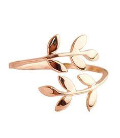 Leyu Fashion Rosegold Überzogen Einfach Design Öffnen Justierbarer Zweig Blatt Form Finger-Ring für Damen - http://schmuckhaus.online/leyu/2-leyu-fashion-einfach-design-nette-ffnen-torque
