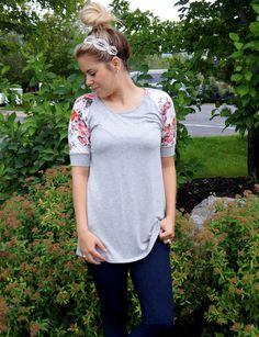 The Ari Floral 3/4 Sleeve Tunic