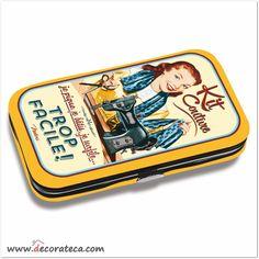 "Kit de costura de bolsillo o viaje de diseño vintage ""Trop Facile"" - DECORATECA"
