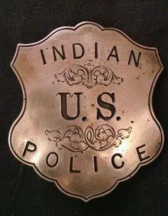 AUTHENTIC- ANTIQUE U.S. INDIAN POLICE BADGE- SILVER in Collectibles, Historical Memorabilia, Police   eBay