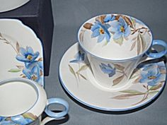 Shelley Regent Art Deco Syringa Tea For Two