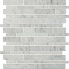 Add a splash of contemporary styling to your decor with the MS International Carrara White Interlocking Mosaic Tile. This attractive wall and floor tile features seemingly random pieces of tile on a 12 in. x 12 in. mesh sheet that makes installation a breeze. With elegant white shades of natural marble in a smooth, honed finish, this tile creates a distinct pattern for kitchens, bathrooms and other residential or commercial spaces.  Please inspect all tiles before installation, as natural…