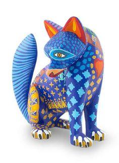 Alebrije sculpture, 'Zapotec Coyote' by NOVICA