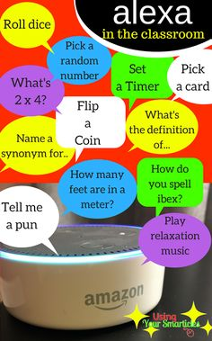 Looking for end of the year ways to keep students engaged?  Need educational technology in the classroom?  Your Smarticles is sharing Edtech ways to engage in the classroom and this time the focus is the Alexa Echo dot!