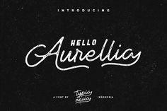Aurellia + Bonus (30% OFF) - Display fonts / font / script / brush / handwritten / type / graphic / design / cursive / calligraphy / typography / modern / handwriting / handlettered / handlettering / typedesign / typeface / handmadefont / brushtype