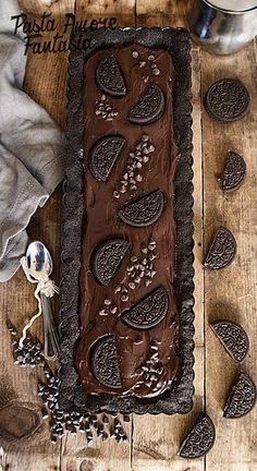 Crostata con crema al cioccolato e Oreo, ricetta dolce