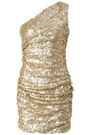 Polyvore Gold Swirl One Shoulder Dress