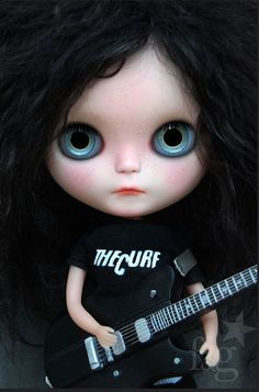 Elise and her Schecter UltraCure Guitar