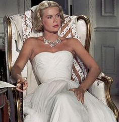 Grace Kelly in Edith Head gown, 'To Catch a Thief'.